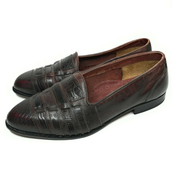 Vintage Mens Loafers Size 8 Exotic